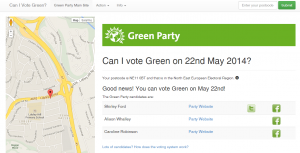 Can I Vote Green website screen shot